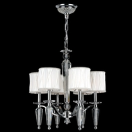 Worldwide W83132C22 Gatsby Transitional 6 Lamp Chandelier Light Fixture - Chrome