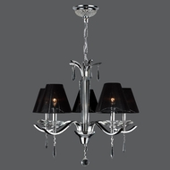 Worldwide W83133C25 Gatsby Chrome 5 Lamp Transitional Chandelier Lighting Fixture