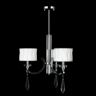 Worldwide W83134C25 Cutlass 3 Lamp Transitional Chandelier With Shades - Chrome