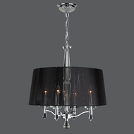 Worldwide W83135C25 Gatsby 25 Inch Diameter Single Shade 4 Lamp Chandelier