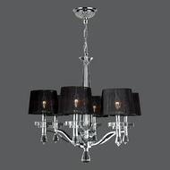 Worldwide W83135C26 Gatsby Chrome Finish 6 Light Chandelier With Shades