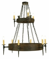 Meyda Tiffany 112813 Warwick 2 Tier Transitional 12 Candle Dining Room Chandelier