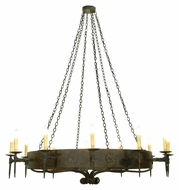 Meyda Tiffany 112814 Warwick Costello Black Finish 72 Inch Diameter 12 Candle Chandelier Light