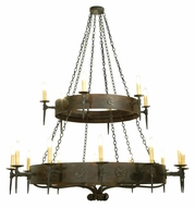 Meyda Tiffany 112829 Warwick 18 Candle Costello Black 2 Tier Large Chandelier Light