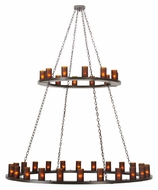Meyda Tiffany 112325 Loxley Timeless Bronze Finish 36 Lamp 72 Inch Diameter Large Chandelier