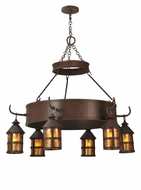 Meyda Tiffany 107472 Aberdeen 47 Inch Diameter Transitional 6 Lamp Chandelier Lighting