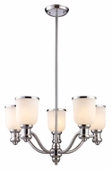 ELK 66153-5 Brooksdale Transitional Style Polished Chrome 5 Lamp Ceiling Chandelier
