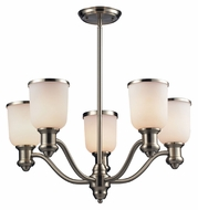 ELK 66163-5 Brooksdale 5 Lamp 25 Inch Diameter Satin Nickel Hanging Chandelier