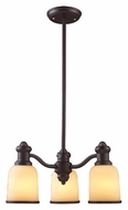 ELK 66172-3 Brooksdale Oiled Bronze 3 Lamp Transitional Downlight Chandelier