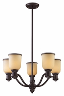 ELK 66173-5 Brooksdale 25 Inch Diameter Oiled Bronze Chandelier Lighting Fixture