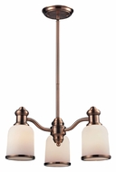 ELK 66182-3 Brooksdale Antique Copper 3 Lamp Downlight Chandelier Lighting