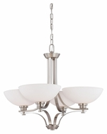 Nuvo 605014 Bentley 4 Lamp Transitional Brushed Nickel Chandelier Lighting