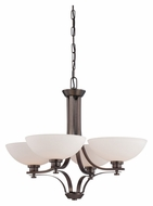 Nuvo 605114 Bentley Transitional 4 Lamp 27 Inch Diameter Lighting Chandelier - Hazel Bronze