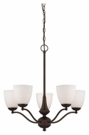 Nuvo 605135 Patton 25 Inch Diameter 5 Light Prairie Bronze Chandelier Lamp