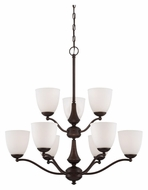 Nuvo 605139 Patton Prairie Bronze Finish 9 Light Chandelier Light Fixture