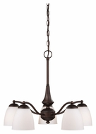 Nuvo 605143 Patton Transitional Style 25 Inch Diameter Hanging Chandelier Lamp