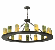 Meyda Tiffany 121882 Loxley 48 Inch Diameter Jadestone Chandelier Lighting Fixture