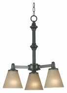 Kenroy Home 91753BP Tallow 3 Lamp Downlight Bronze Patina Hanging Chandelier - 20 inch Diameter
