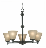 Kenroy Home 91755BP Tallow 26 Inch Diameter Bronze Patina Finish 5 Light Ceiling Chandelier
