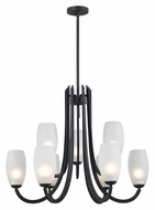 Kenroy Home 91929FGRPH Mirage 9 Lamp Forged Graphite 31 Inch Diameter Chandelier Lighting Fixture