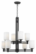 Kenroy Home 91938ORB Slender Large 2 Tier 8 Lamp Oil Rubbed Bronze Chandelier Lamp