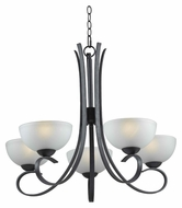 Kenroy Home 91965FGRPH Maple Small 5 Lamp Forged Graphite 29 Inch Diameter Lighting Chandelier