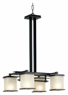 Kenroy Home 90383ORB Plateau 4 Lamp Oil Rubbed Bronze 19 Inch Diameter Lighting Chandelier