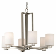 Kenroy Home 10186BS Encounters 26 Inch Diameter Transitional 6 Light Chandelier - Brushed Steel