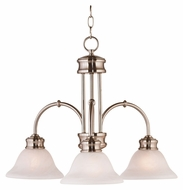 Kenroy Home 10510BS Winterton 3 Light Brushed Steel Finish Transitional Downlight Chandelier Lamp
