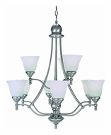 Lite Source LS16389PS/CLD Chambord Transitional Polished Steel 9 Light Chandelier