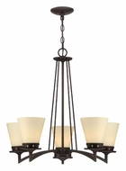 Lite Source LS18455 Erina Transitional Aged Bronze Finish 5 Light Chandelier Lamp
