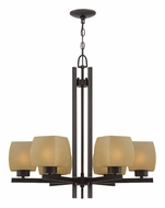 Lite Source LS18486 Solo 26 Inch Diameter Dark Bronze Finish Chandelier Lighting