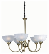 Lite Source LS14155BRZ/FRO Alani 25 Inch Diameter Bronze Finish 5 Lamp Transitional Chandelier Lighting