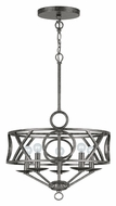 Crystorama 9245-EB Odette Transitional Small 5 Lamp English Bronze Lighting Chandelier - 17 Inch Diameter