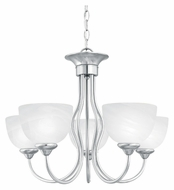 Thomas SL801578 Tahoe Small 24 Inch Diameter Brushed Nickel Finish 5 Light Chandelier