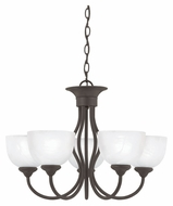Thomas SL801563 Tahoe 24 Inch Diameter Painted Bronze Finish 5 Light Small Chandelier