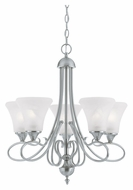 Thomas SL811578 Elipse 24 Inch Diameter Small 5 Lamp Brushed Nickel Ceiling Chandelier