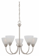 Thomas 190006117 Tia Transitional 22 Inch Diameter Small 5 Light Chandelier Lighting - Matte Nickel