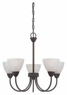 Thomas 190006763 Tia 22 Inch Diameter Small Painted Bronze Dining Chandelier - 5 Lights