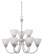 Thomas 190036117 Tia Large 26 Inch Diameter Matte Nickel Transitional Hanging Chandelier Light Fixture