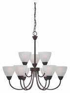 Thomas 190036763 Tia Painted Bronze Finish 26 Inch Diameter 9 Light Large Chandelier