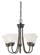 Thomas SL805115 Bella Small 5 Lamp Oiled Bronze Finish Lighting Chandelier - 22 Inch Diameter