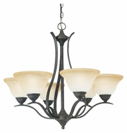 Thomas SL863622 Prestige 29 Inch Diameter 6 Lamp Sable Bronze Finish Transitional Lighting Chandelier - Small