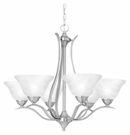 Thomas SL863678 Prestige Small 29 Inch Diameter Transitional Brushed Nickel Finish Hanging Chandelier