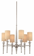 Thomas M209778 Allure 6 Lamp 26 Inch Diameter Brushed Nickel Transitional Ceiling Chandelier - Small