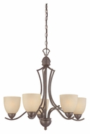 Thomas SL808222 Triton Small 5 Lamp Sable Bronze Ceiling Chandelier - Transitional