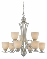 Thomas SL808372 Triton Moonlight Silver Transitional 9 Lamp Lighting Chandelier - Large