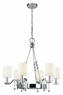 Hudson Valley 8166-PN Bolton Polished Nickel 30 Inch Diameter Small 6 Light Chandelier