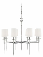 Hudson Valley 8518-PN Amherst 8 Lamp Polished Nickel Finish 32 Inch Diameter Hanging Chandelier Lamp