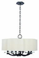 Hudson Valley 1426 Garrison 6 Lamp 26 Inch Wide Transitional Hanging Chandelier With Shades - Small